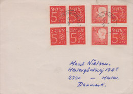 Sweden; Cover W. Booklet Stamps To Denmark 1970 - Suecia