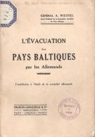EVACUATION DES PAYS BALTIQUES PAR LES ALLEMANDS GRANDE GUERRE 1918 GENERAL NIESSEL BALTES