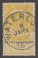 "54  Gestempeld  ""WATERLOO""  Cote 1,25 Euro + 70 Bfr. (NIPA) - 1893-1907 Armoiries"