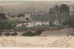 CPA TURQUIE TURKEY SMYRNE Bains De Diane Carte Colorisée 1907 - Turkey