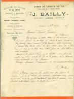 "52 Haute Marne - Langres  "" Courier J Bailly Armes De Chasse Et Tir  "" 1915 - Frankrijk"