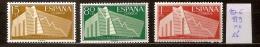 Espagne 887 à 889 ** Côte 15 € - 1951-60 Ungebraucht