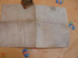 A IDENTIFIER-document Une Page Recto Verso-cachet Lorraine-bar-15 Sols -6 Deniers Rambervillers Vosges-1786 Papier Velin - Cachets Généralité
