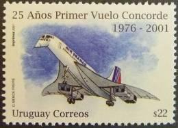 Uruguay 2001 SC 1914 MNH Concorde Aviation Transportati - Uruguay