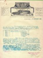 FATTURA -1933-MILANO-LAVORAZIONE DEL CUOIO SBALZATO E DECORATO-ENRICO GIACOMESSI - Italia