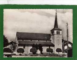 74 - VULBENS - L'Eglise Et Le Monument Aux Morts. CPSM Grd Format Dentellée Année 1960 - Autres Communes