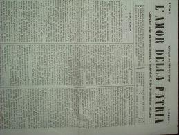 GIORNALE   L'AMOR DELLA PATRIA DI NOVARA - N.4 DEL 25 MARZO 1852 - Altri