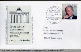 GERMANY  -    FDC  -    WILLY  BRANDT - FDC: Buste