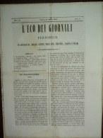 GIORNALE  L'ECO DEI GIORNALI - N. 11 DEL 14 MARZO 1846 - Books, Magazines, Comics