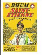 Etiquette   RHUM  SAINT-ETIENNE Agricole 50° 100cl - MARTINIQUE - - Rhum