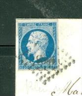 N°14 Sur LSC  Oblitéré Pc 1896 - Marseille - 6/07/1857  - Ad23103 - 1849-1876: Période Classique