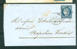 N°4 Sur LAC  Oblitéré   étoile Muette , CAD Paris 20 ( 60) - 26/11/1852    - Ad23108 - 1849-1850 Cérès