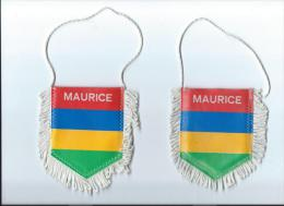Drapeaux et Fanions/AFRIQUE/ILE MAURICE/bi -faces/Fanion /Ann�es 1985-1990      DFA10