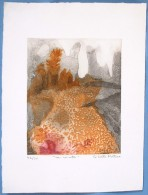 (1) Aquatinte Originale De Colette Pettier N°42/50 - Lithographies