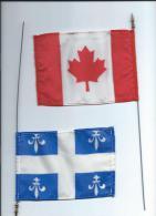 Drapeaux et Fanions/CANADA/QUEBEC/bi -faces/Petits drapeaux/Ann�es 1985-1990      DFA11