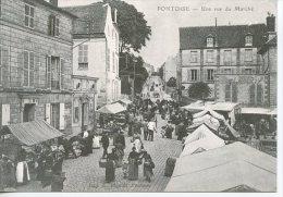 Pontoise Une Vue Du Marché - Coll Particulière Wichegrod Repro édit Abeille N°123 - Pontoise