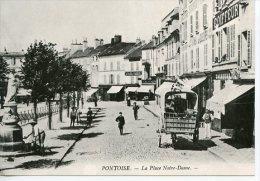Pontoise La Place Notre Dame - Coll Particulière Wichegrod Repro édit Abeille N°107 - Pontoise