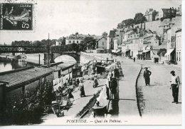 Pontoise Quai De Pothius - Coll Particulière Wichegrod Repro édit Abeille N°106 - Pontoise