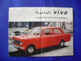 RARE 1963 ORIGINAL VAUXHALL VIVA GM CAR LEAFLET CATALOG PORTUGUESE EDITION - Sin Clasificación