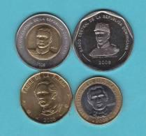 REPUBLICA DOMINICANA   Juego/Set  4  Monedas/Coins   SC/UNC   DL-9466 - Dominicaanse Republiek