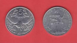 NUEVA CALEDONIA   5  FRANCOS  2.002  Aluminio  KM#16  SC/UNC   DL-9468 - Nueva Caledonia