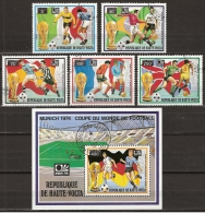 Haute-Volta, FIFA Coup Du Monde Munchen 1974 Football, Soccer, Voetbal, Fussball - Coppa Del Mondo