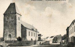 Saint Denis Bovesse - La Place Et L'Eglise De St Denis - Ed.J. Lambert-Michaux  - Pas Fréquente - La Bruyère