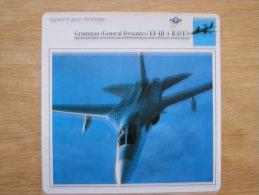 GRUMANN GENERAL DYNAMICS EF-IIIA Raven  Appareil De Guerre électronique  FICHE AVION Avec Description  Aircraft Aviation - Vliegtuigen