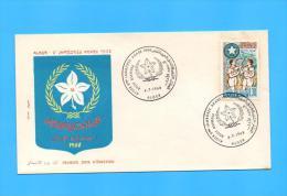 Algérie Algeria Algerien FDC Scout Scouts Scouting Scoutism Scoutisme Arab Arabe Congress Conference Congres 1968 - Scouting