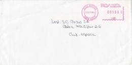 AMOUNT 1500, CLUJ NAPOCA, MACHINE STAMPS ON COVER, 1999, ROMANIA - Marcophilie - EMA (Empreintes Machines)