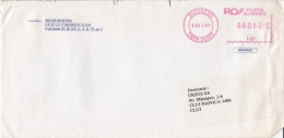 AMOUNT 600, BUCHAREST, MACHINE STAMPS ON COVER, 1999, ROMANIA - Marcophilie - EMA (Empreintes Machines)