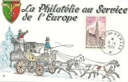 Document Philatélique De La Douzieme Exposition Philatélique Franco- Allemande A Rastatt En Avril 1974  Beau Cachet - Curiosidades: 1970-79 Usados