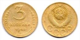 URSS, RUSSIA 3 Kopeks 1948. # 2227. - Russie