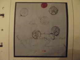 Lettre Obliteration Aisne Soissons 1858 Paris Royan Sedan Bordeaux - Marcophilie (Lettres)