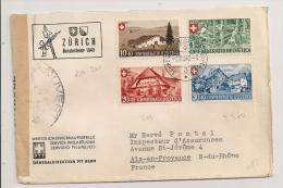 LETTRE RECOMMANDE DE 1945 ZURICH A AIX EN PROVENCE / CENSURE - Svizzera