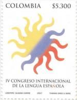 Lote 2445, Colombia, 2007, Sello, Stamp, IV Congreso Int De La Lengua Española, Congress Of The Spanish Language - Colombia