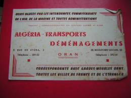BUVARD  ALGERIA TRANSPORTS DEMENAGEMENTS  ORAN  20 BD LESCURE / 2 RUE DE STORA  ATTENTION ETAT MOYEN - Transport