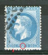 """N° 29°_blanc Sur """"S"""" Plus Filet Relié Au Sud - 1863-1870 Napoléon III Lauré"""