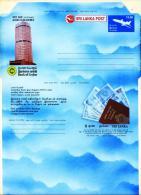 SRI LANKA AEROGRAMME MINT BANK OF CEYLON BANK NOTES - Sri Lanka (Ceylon) (1948-...)