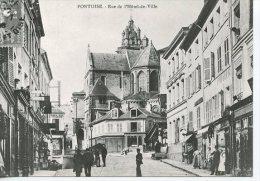 Pontoise Place De L'Hotel De Ville - Coll Particulière Wichegrod Repro édit Abeille N°100 - Pontoise
