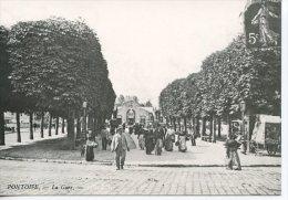 Pontoise La Gare - Coll Particulière Wichegrod Repro édit Abeille N°120 - Pontoise