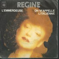 """45 Tours SP - REGINE  - CBS 6247   """" L'EMMERDEUSE """" + 1 - Vinyles"""
