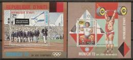 JUEGOS OLÍMPICOS - HAITÍ 1973 - Yvert #H38/39 ** - Precio Cat. €7 - Verano 1972: Munich
