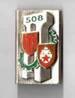 INSIGNE  508° RT, Régiment Du Train - DRAGO PARIS G 1996 - Army