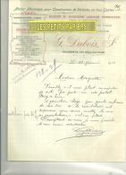 27 - Eure - VILLEGATS -  Facture DUBOIS - Fabrique De Voitures – 1916 - France