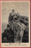 SECONDA TORRE E MURA CASTELLANE   ( Repubblica Di San Marino ) *  Travelled 1939. - San Marino