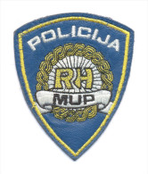 CROATIA , POLICIJA - MUP RH ,POLICE, Sleeve Patch For LEATHER JACKET, Very Rare Sleeve Patch - Patches