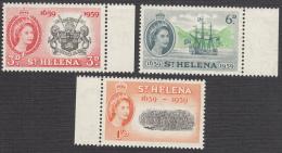St Helena 1959 Set Of 3  SG169,SG170,SG171  MNH - South Africa (1961-...)