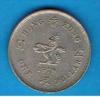 HONG KONG - 1 Dolar 1979  KM43 - Hong Kong