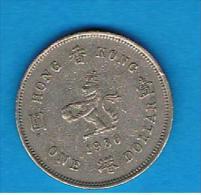 HONG KONG - 1 Dolar 1980  KM43 - Hong Kong